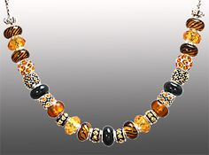 A colorful necklace from Da Vinci Beads.