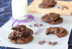 Double chocolate chip Oreo crumb cookies