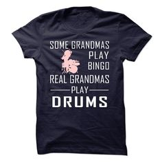 Real GRANDMAs Play Drums T-Shirts, Hoodies. GET IT ==► https://www.sunfrog.com/Sports/Real-GRANDMAs-Play-Drums-58617414-Guys.html?id=41382