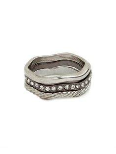 really loving the organic shape of our silver wave rings #summersale
