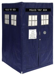 TARDIS TENT! If only I could send this back to my childhood...My brother was Tom Baker DW for halloween when he was 9, with his own K9!