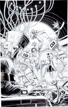 Original Comic Art:Covers, Ralph Reese Magnus Robot Fighter #19 Cover Original Art(Valiant, 1992).... Image #1