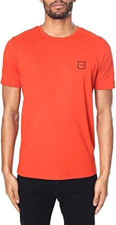 b37dd271d Best Seller Hugo Boss Tales Cotton Plain Orange T-Shirt S Orange online