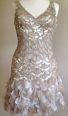 SUE WONG GATSBY Art Deco...Becky's dress in champagne