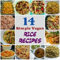 14 Simple Vegan Rice Recipes I have not verified that each recipe is gluten free. But it's nice to have a collection of go-to rice side dishes at hand. Rice Recipes Vegan, Vegan Recipes Videos, Vegan Dinner Recipes, Vegan Dinners, Vegetarian Recipes, Cooking Recipes, Healthy Recipes, Vegan Food, Diet Recipes