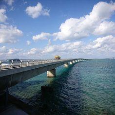 【namarabousou】さんのInstagramをピンしています。 《宮古島から伊良部島に渡る「伊良部大橋」。2015年1月開通の新しい橋。  無料で渡れる橋としては日本最長の3,540m。途中で船が潜るための鬼坂がある。  天気も良くてめっさ気持ちい。  #伊良部大橋 #伊良部島 #宮古島 #miyakojima #島 #island #沖縄 #okinawa #japan #tourism #travel #trip #vacation #relax #海 #beach #landscape #ocean #yolo》