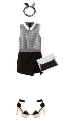 """""""Untitled #91"""" by afifahazhr ❤ liked on Polyvore featuring Nicholas Kirkwood, BCBGMAXAZRIA, women's clothing, women's fashion, women, female, woman, misses, juniors and blackandwhite"""