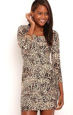 Deb Shops cheetah bodycon dress