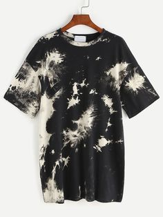 Shop Space Dye Drop Shoulder Tee Dress online. SheIn offers Space Dye Drop Shoulder Tee Dress & more to fit your fashionable needs.