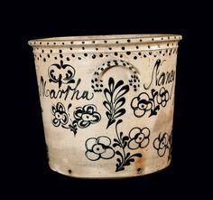 new york state stoneware planter..1850