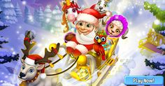 Santa flying in his sleigh to bring Christmas Gifts to all Royal Story players! #royalstorygame