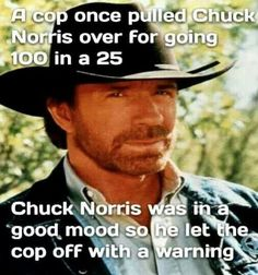 Chuck pulled over by cop