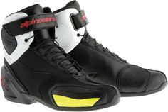 Alpinestars Stivali Moto Faster-3 Rideknit Shoes Black White Red