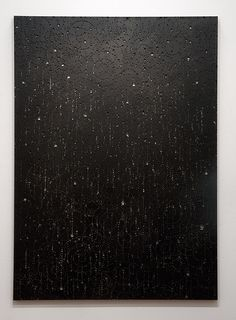 Lindy Lee The Tenderness of Rain, 2011 Linen, fire and acrylic 216 × 155cm