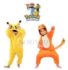 Child Pokemon Onesie Pikachu Pyjamas Kigurumi Costume Charmander Boys Pajamas…