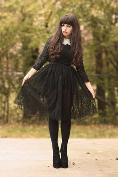 If we have a wedding party possible brides maids dress... inspiration from Addams family