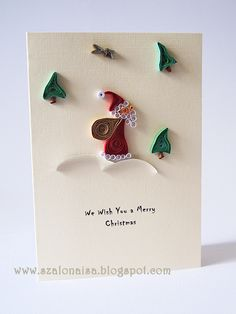 Quilled handmade cards - Szalonaisa's Wonderland: Quilled Santa Claus