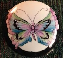 Original Design by Irene Graham Butterfly with raised enamel and penwork