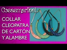 Collar Cleopatra hecho con cartón y alambre.