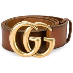Gucci Vintage Leather Logo Belt ($375) ❤ liked on Polyvore featuring accessories, belts, brown, gucci, gucci belt, metal belt and brown belt