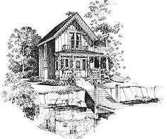 Carpenter Gothic Charmer (HWBDO01757) | Gothic Revival House Plan from BuilderHousePlans.com
