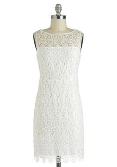 """Marshmallow Creme Frosting Dress, #ModCloth  This dress reminds me of a couple things: IU's song boo, IU's albulm """"Spring of a twenty-year old"""", Juniel's album """"1+1"""" and fluffy, yummy marshmallows *hmmm maarrshmalloows, i'm hungry now*"""