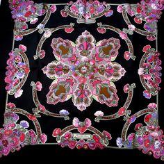Hermès - Anémones, signé Caty Latham