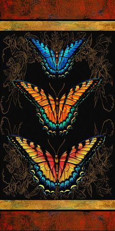 I uploaded new artwork to fineartamerica.com! - 'Butterfly Treasures- Swallowtails' - http://fineartamerica.com/featured/butterfly-treasures-swallowtails-jean-plout.html via