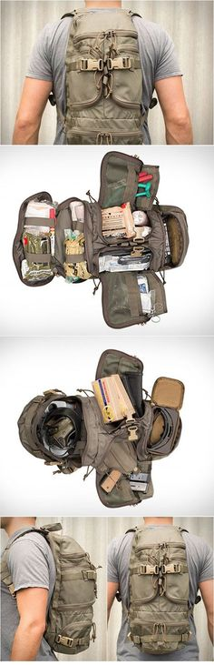 Originally developed as a medical pack for a US Special Operations unit , this pack can easily be adapted for use as a range bag, E&E pack...