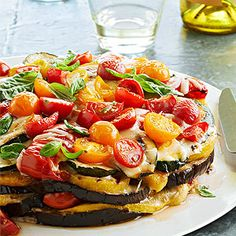 Smoky Grilled Vegetable Torte From Better Homes and Gardens, ideas and improvement projects for your home and garden plus recipes and entertaining ideas.