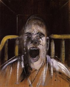 Francis Bacon, Study for the Head of a Screaming Pope, 1952 on ArtStack #francis-bacon #art