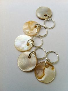 Snag Free Knitting Stitch Markers  BURLESQUE IVORY by rosyretro, £3.50