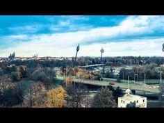 FAST MOTION - Hradec Králové city time-lapse video