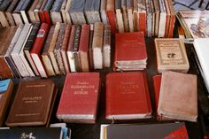 books, red, and vintage image