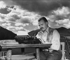 "Ernest Hemingway ...literary icon, adventurer, rebel. Wrote such classics as ""The Old Man and the Sea,"" ""The Sun Also Rises"" and ""A Farewell to Arms."""