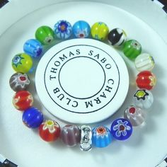 Thomas Sabo Bracelets Cheap Ceramic Colorful Stretch Bracelet - B