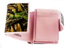 Mossy Oak & Pink Trifold Genuine Camo Leather Wallet in Organza Drawstring Bag (MOBU & Pink Leather Trifold Boxed in Organza Drawstring Bag) Weber's Mossy Oak Wilderness Dreams http://www.amazon.com/dp/B00KR77YTQ/ref=cm_sw_r_pi_dp_dATJtb10C3F7ZQ9X #pinkcamo #mossyoakpink #webers #wildernessdreams