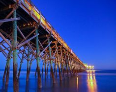 Folly Beach Pier at Night, Folly Beach, SC  © Doug Hickok