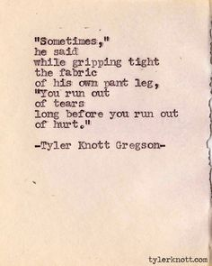 Typewriter Series #186 by Tyler Knott Gregson