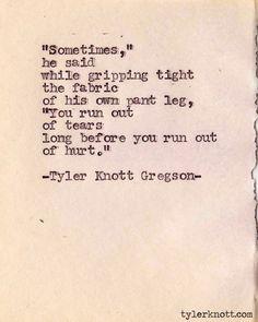 Typewriter Series #186 by Tyler Knott Gregson