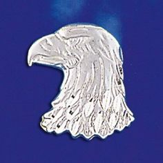 STERLING SILVER ALOHA AMERICAN AIRBORNE EAGLE HEAD BIRD ANIMAL PENDANT NECKLACE