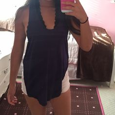 Navy Deep Side Tank Super soft navy racerback tank with deep side arm and deep back. *No trades please!! Tops Tank Tops