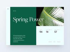 Four Seasons - UI Concept Adam Zielonko Website Design Layout, Web Layout, Layout Design, Print Design, Graphic Design, App Design Inspiration, Ui Web, Book Layout, Site Internet