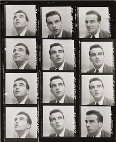 Montgomery Clift contact sheet, photographed by Norman Parkinson