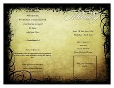 Create Funeral Program Using Templates Online At WwwQuickfuneral