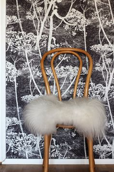 RAW design blog. Cow parsley wallpaper in black & white by Cole & Son