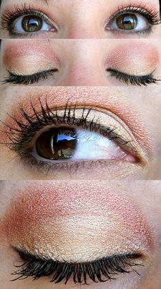 Tangerine eye make up