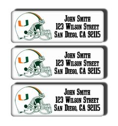 University of Miami Hurricanes College Football by DreamLabels, $5.00