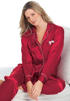 Fashion Womens Sexy Pajamas Set Blouse Shirt + Shorts Underwear ...