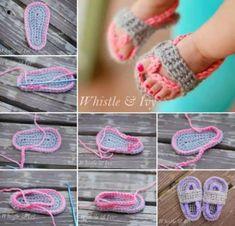 Crochet Baby Flip Flops Free Pattern Ideas